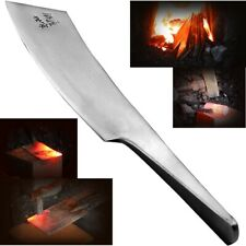 """Handmade Traditional Chinese Knife Hand Forging Forged Steel One Piece Blade 6"""""""