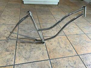 """26"""" Lady's Cruiser Bike Frame Chrome New!"""