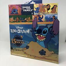Disney Lilo & Stitch 15 Days of Socks Advent Calendar 2019 Womens SZ 4-10