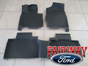 20 thru 21 Explorer OEM Genuine Ford Tray Style Molded Floor Mat Set 4-pc NEW