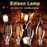 Classiqu Edison C35 Ampoule à filament E14 220V 4-8W LED Ampoule bougie Lampe 8