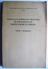 Heron Egret Ornithology Comparative Breeding Behavior 4 Species North American