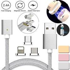 CABLE MAGNETICO USB DE DATOS Y CARGA PARA ANDROID Y IOS, MICRO USB Y LIGHTNING