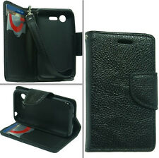 For LG Optimus Fuel L34C / Zone 2 / L Series III L40 Wallet Pouch Cover Case