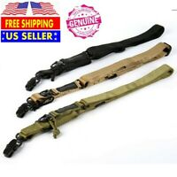 New Tactical Two 2 Dual Point Adjustable Bungee Rifle Gun Sling System Strap US