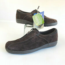 Grasshoppers Stretch Plus Zip Sude Brown Comfort EH35456