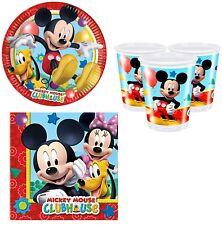 Bébé Garçon Fille Fête D'Anniversaire Mickey Mouse Clubhouse 36pc Vaisselle Set