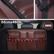 Coffee Color leather Universal Car Trunk Multi Pocket Storage Organizer Pocket