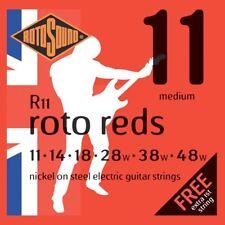 Rotosound R11 Roto Reds Medium Electric Guitar Strings (11-48) + Picks