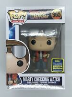 Funko POP Back to the Future - Marty McFly checking watch SDCC 2020 Vinyl Figure