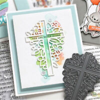Cross Shape Metal Cutting Dies Scrapbooking Embossing Cards Making Craft Stencil