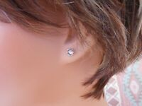 HYPOALLERGENIC Stud Earrings Lead and Nickel Safe Swarovski Elements in CLEAR