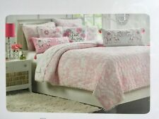 Bella Lux Twin Quilt Pink & White Elephant, Reversible Brand New in Pkg