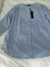 BNWT Marks & Spencer Autograph Womens Chambray Tunic Casual TopUK 14 COTTON
