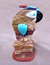 Native Zuni  AMAZING  Banded Jasper & Multi-stone Parrot by Jon Quam - C1544