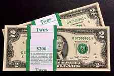 2009 (1 ) Two Dollar Bill, $2 Note,Cleveland, Uncirculated ,consecutive