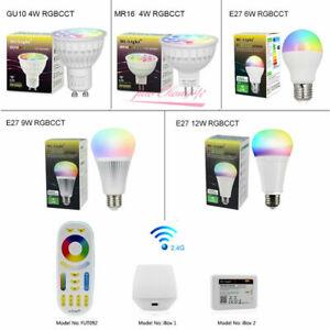 RGBCCT Dimmable led Bulb MR16 GU10 6W 9W 12W E27 led Lamps 2.4G RF controller