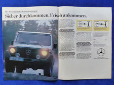 Mercedes G G-Klasse W460 - Werbeanzeige Reklame Advertisement 1984 __ (360