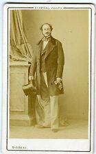 PHOTO CDV DISDERI Paris Le Duc de Gramont pose circa 1860 dame aux camélias