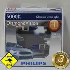 A Pair of Genuine Philips H1 12V 5000K 55W Diamond Vision Bulbs