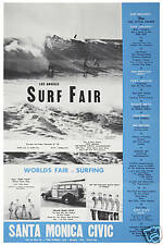 The Beach Boys at the Surf Fair in Santa Monica Concert Event Poster Circa 1963