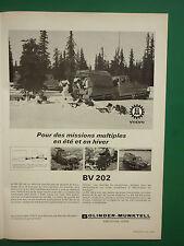 11/66 PUB BOLINDER MUNKTELL ESKILSTUNA SWEDEN BV 202 AMPHIBIE CHENILLE FRENCH AD