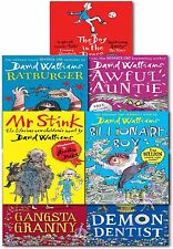 David Walliams Collection 7 Books Set Awful Auntie, Demon Dentist, Mr Stink, Rat