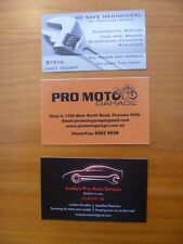 BUSINESS CARDS X 3...MECHANICAL REPAIRS...MOBILE MECHANIC...WRENCH...MOTORCYCLE