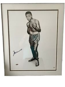 Muhammad Ali Authentic Signed 16X20 B&W Photo As Child OA & Steiner Holograms