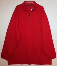 Polo Ralph Lauren Big and Tall Mens True Red 1/2 Zip Cotton Sweater NWT $125 3XB