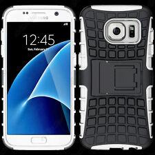 Coque Etui Anti Choc Armor Outdoor Bequille Noir, Blanc Samsung Galaxy S7 G930F