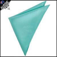 MENS POCKET SQUARE Sea Mist / Turquoise Handkerchief Hanky