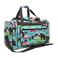 """Canvas 20"""" carry on airplane/duffle/gym/overnight bag NWT NGIL FREE SHIP! Camper"""