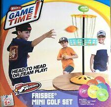 Frisbee Mini Golf Set Wham-o Six Frisbee Discs + Target Backyard Game Kids
