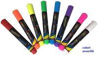 8 Pennarelli Gesso Liquido Colori Brillanti Fluo Per Lavagne Finestre Vetri lin