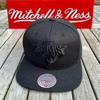 Mitchell & Ness New York Knicks NBA Snapback Hat Cap Black/Black/BLACK BOTTOM