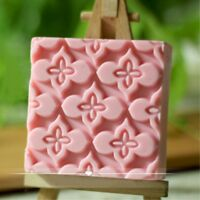Silicone Soap Bar Mold Square Flower Mold Handmade Craft Candle Resin Mold