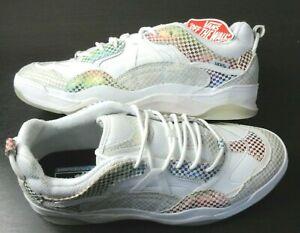 Vans Mens Varix Wc Glory Check Skate Street shoes True White Black Size 10 NIB