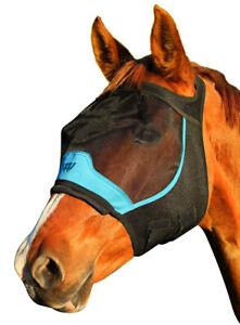 Horse Fly Mask Flymask  60% UV Protection 3 Sizes