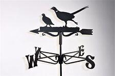 Pheasant and Partridge Metal Weathervane