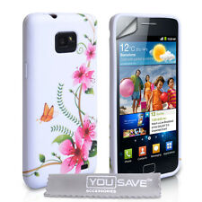 New Floral Butterfly Pattern Silicone Gel Phone Case Cover for Samsung Galaxy S2