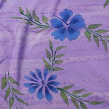 Sarong, Pareo, Wrap - purple painted flowers - handmade in Bali - Hary Dary