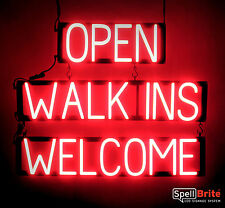 SpellBrite Ultra-Bright OPEN WALK INS WELCOME Sign Neon look LED performance