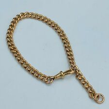 """Solid 375 9ct Yellow Gold 6mm Curb Link 8 -9"""" Bracelet 20.9g L36"""
