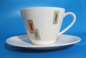 1 Kaffeetasse + Untertasse Seltmann Weiden Vintage Form Doris? Rares Dekor Retro