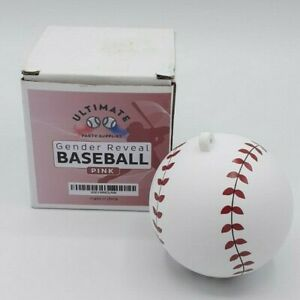 Ultimate Party Supplies Gender Reveal - 1 Pink Baseball