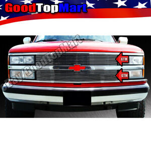 For Chevy C1500/2500/3500+K1500/2500/3500 1994-1999 Polished Grille cut out 2PC