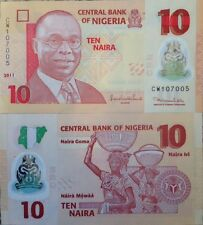 NIGERIA 2011 10 NAIRA POLYMER UNC BANKNOTE P-33 BEAUTIFUL FROM A USA SELLER !