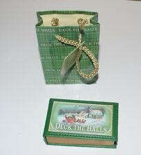 Minibuch Spieluhr Spieldose Tanzpaare Ballsaal Deck the Halls