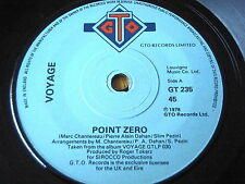 "VOYAGE - POINT ZERO     7"" VINYL"